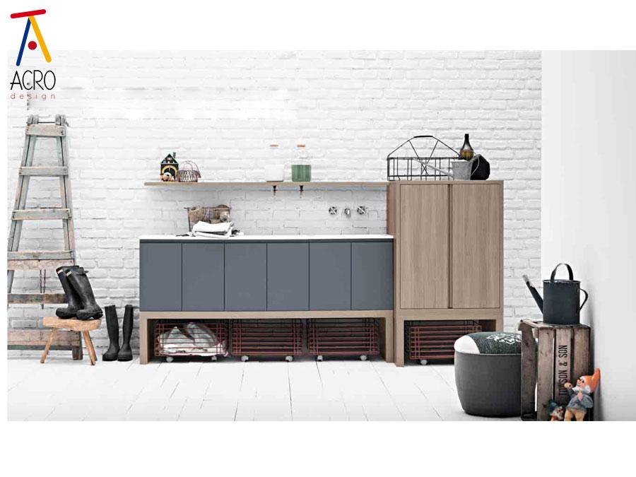 Serie bario arredo lavanderia for Arredamento lavanderia