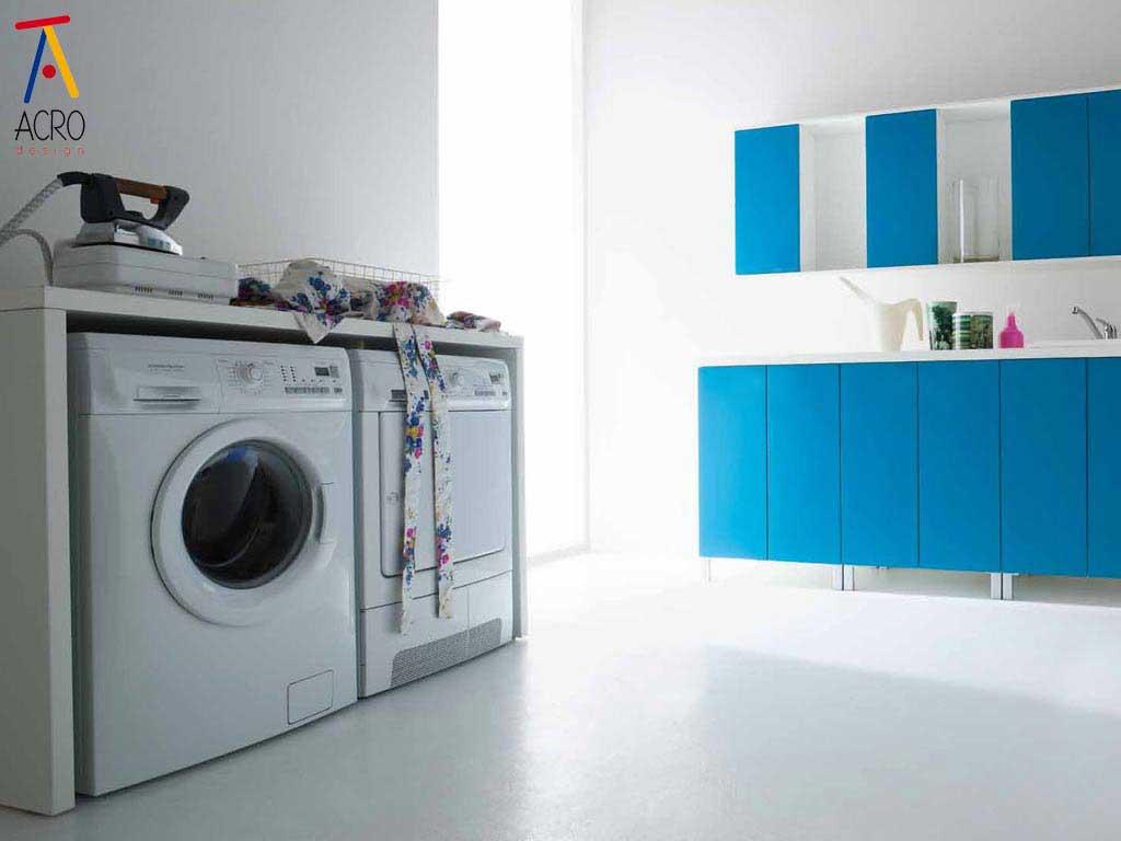 Mobili porta lavatrice asciugatrice arredo lavanderia - Mobile per lavatrice e asciugatrice ...