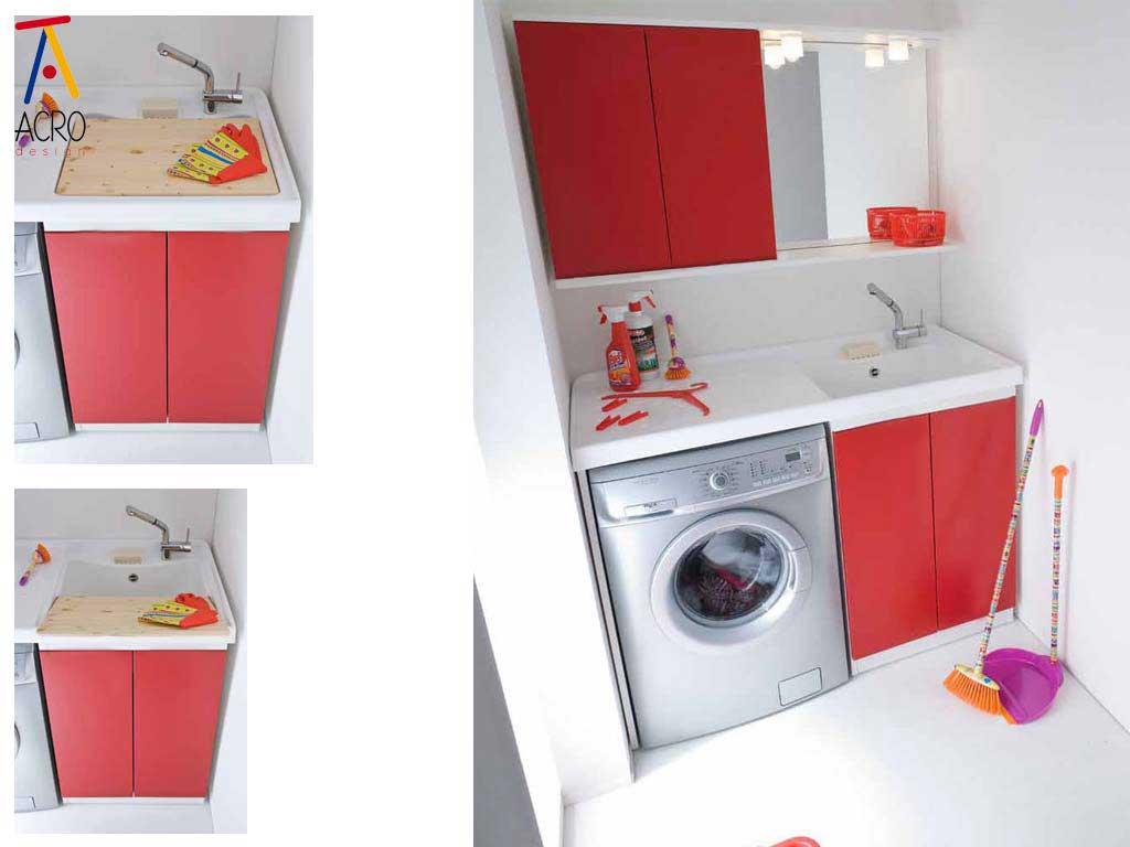 Porta lavatrice asciugatrice arredo lavanderia for Lavabo con lavatrice