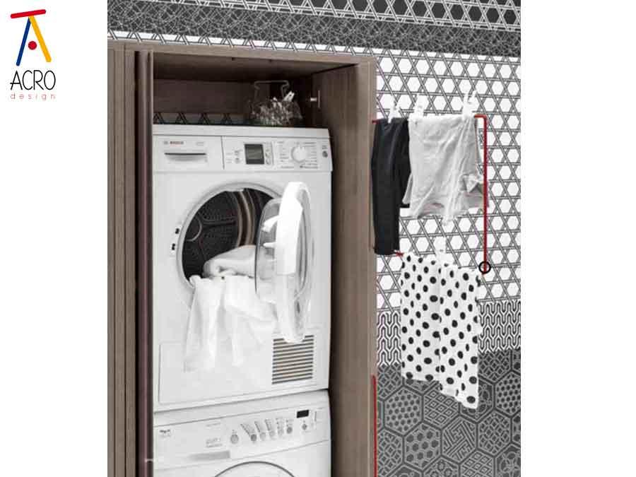 Serie bario arredo lavanderia - Mobili bagno con lavatrice a scomparsa ...