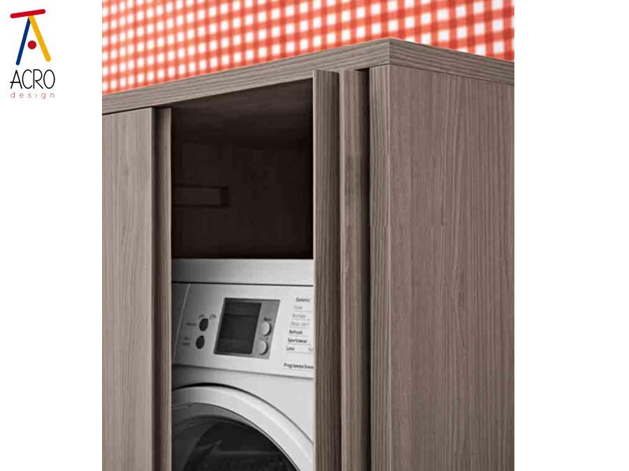 Mobili porta lavatrice asciugatrice arredo lavanderia - Mobile per computer a scomparsa ...