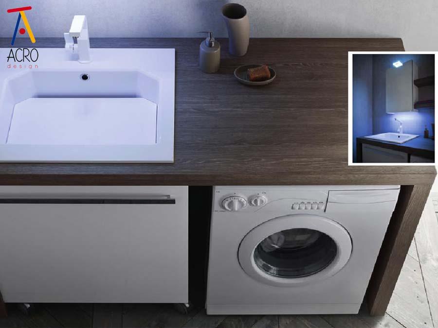 Mobili porta lavatrice asciugatrice arredo lavanderia - Mobili bagno con lavatrice a scomparsa ...