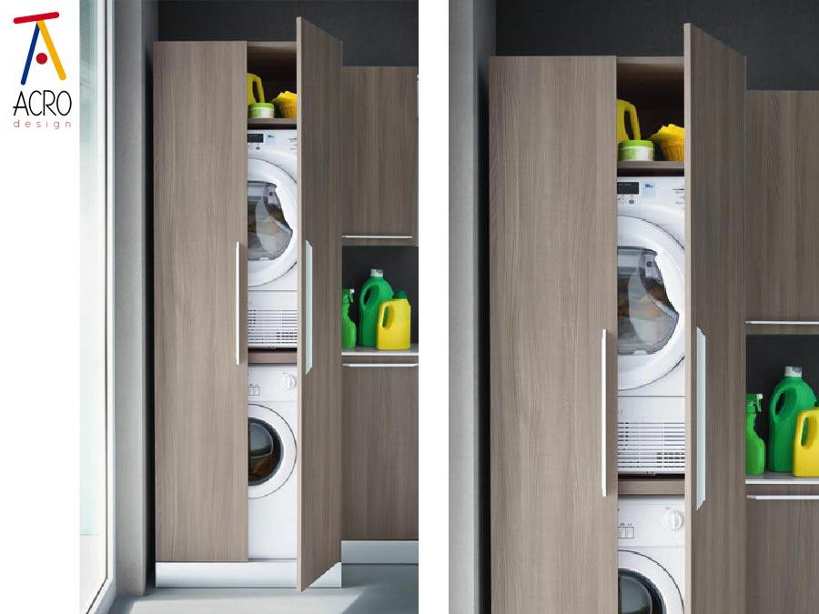porta lavatrice asciugatrice arredo lavanderia