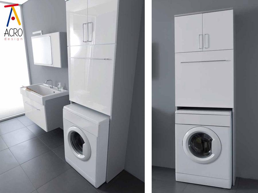 Porta lavatrice asciugatrice arredo lavanderia for Mobile colonna lavatrice asciugatrice ikea