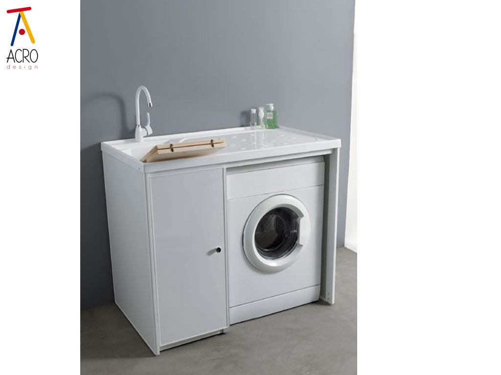 Porta lavatrici arredo lavanderia - Mobile per lavatrice e asciugatrice ...