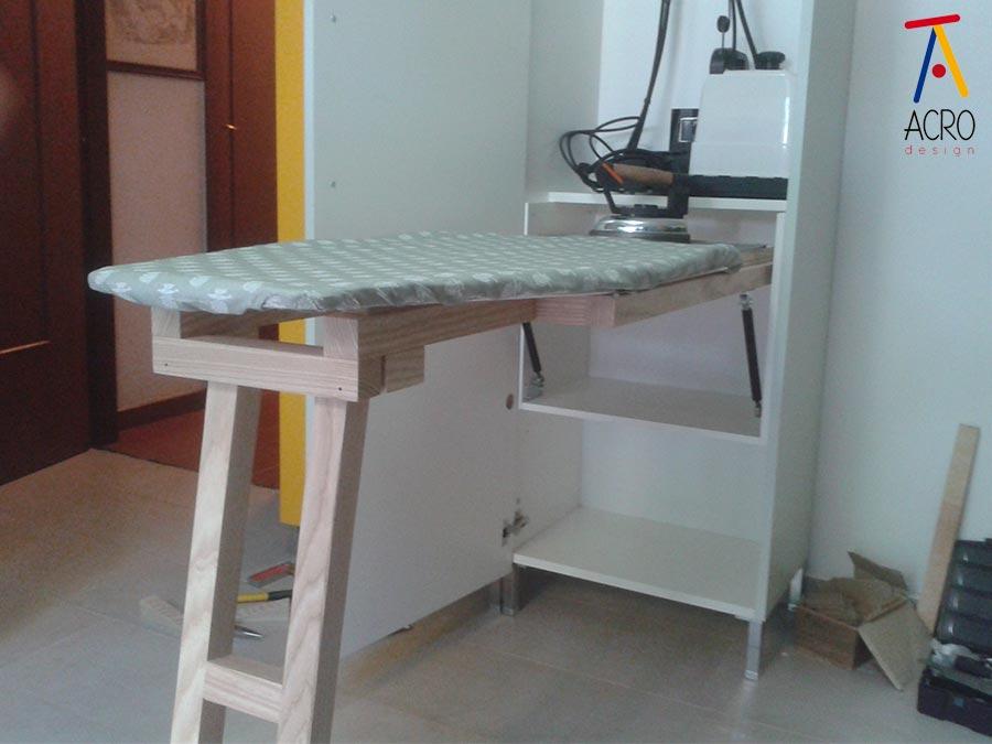 Arredamento lavanderia su misura arredo lavanderia - Asse da stiro da parete ...