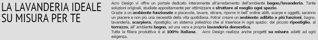 Arredi lavanderia Milano